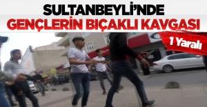 Sultanbeyli'de gençlerin bıçaklı kavgası: 1 yaralı